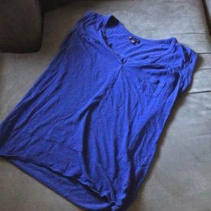 Blue Front Pocket Gap Tank